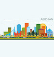abidjan ivory coast city skyline with color vector image vector image