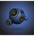 Abstract blue music background with round speakers vector image vector image