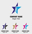 Abstract K letter logo design with star icon vector image vector image