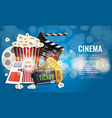 ad layout template for the film industry elements vector image vector image