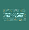 agriculture machinery word concepts banner