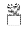 back to school cup with pencils supplies vector image vector image