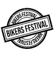 Bikers Festival rubber stamp vector image