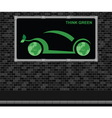 Car advertising board vector image vector image