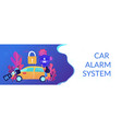 car alarm system concept banner header vector image vector image