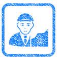 cardano trader framed stamp vector image vector image
