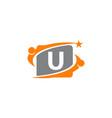 career coaching initial u vector image vector image