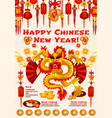 chinese new year banner of spring festival dragon vector image
