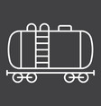 cistern oil train line icon logistic and delivery vector image vector image