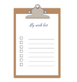Clipboard and wish list vector image vector image