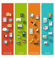 Collection of modern concept icons in flat design vector image vector image