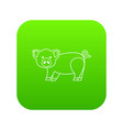 cute pig icon green vector image vector image