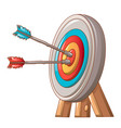 double shot the target icon cartoon style vector image vector image