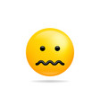 emoji smile icon symbol confounded face yellow vector image vector image