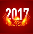 fire rooster symbol of the new year by chinese vector image vector image