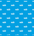 freight train pattern seamless blue vector image vector image