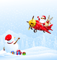 Good By Snowman vector image vector image