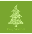 Greeting card with hand drawn zentangle Christmas vector image vector image
