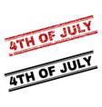 grunge textured and clean 4th of july stamp prints vector image vector image