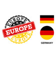 grunge textured europe stamp seal with german vector image vector image