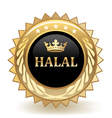 Halal Badge vector image