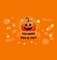 halloween sale banner with pumpkin and money vector image vector image
