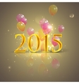 happy new 2015 year holiday background with flying vector image