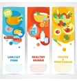 Healthy eating vertical banner set vector image vector image