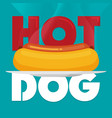 hotdog icon great for any use eps10 vector image