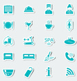 Hotel services icons Stickers Blue vector image vector image