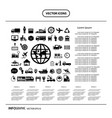icon logistics export info graphic vector image vector image