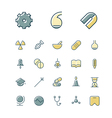 icons thin blue science medical vector image vector image