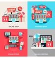 Internet Shopping Decorative Icon Set vector image vector image