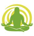 man figure meditating symbol vector image vector image