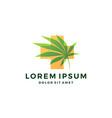 medical cannabis logo hemp leaf icon download vector image vector image
