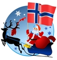 Merry Christmas Norway vector image vector image
