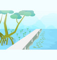 Mudskipper in mangroves forest nature art