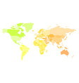 multicolored map of world simplified political vector image vector image