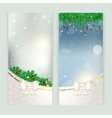 New year set of postcards vector image vector image