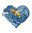ocean love vector image vector image