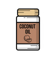 outline of a jar coconut oil vector image vector image
