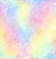 pastel spring polygonal triangular pattern vector image vector image
