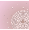 Pearl ornament on a pink background vector image