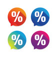 percent sign label sale vector image