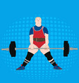 powerlifting athlete deadlift vector image