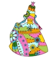 Princess colorful silhouette vector image vector image