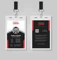 professional id card template vector image