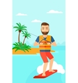 Professional wakeboard sportsman vector image vector image