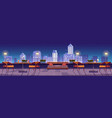 restaurant at night rooftop terrace on city view vector image vector image