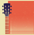 retro music poster background with acoustic vector image vector image
